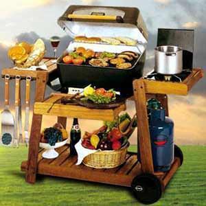 Una cucina all'aperto: un barbecue della ditta il Bracere