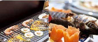 Una cucina all'aperto: una grigliata all'aperto