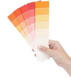 I difetti delle opere di attintatura: una mazzetta colori per la scelta della tonalità