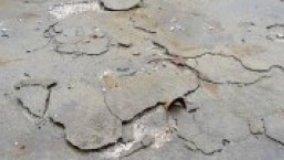 Danni provocati dal gelo a pavimentazioni in calcestruzzo