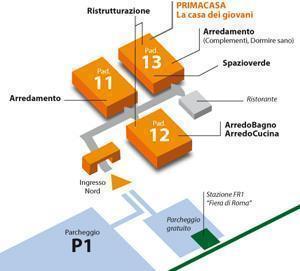 Planimetria degli padiglioni di Casaidea 2011