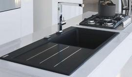 Franke lavello Mythos Fusion: Fragranite nero + inox