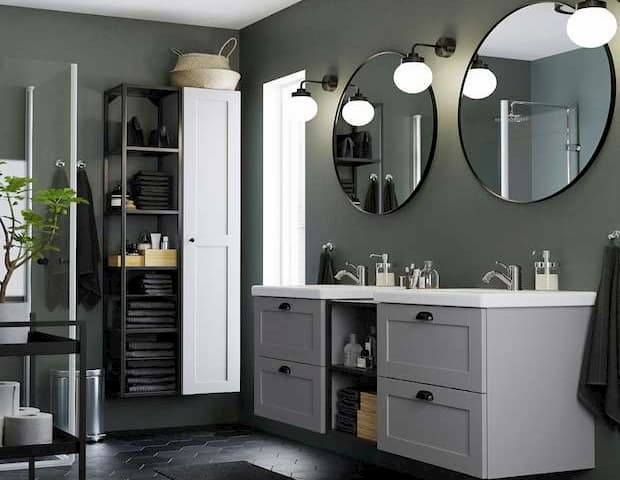 Idee d'arredo per il bagno, IKEA, serie Enhet