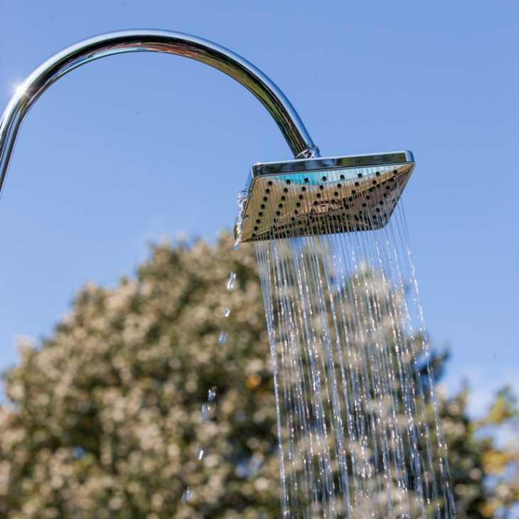 Soffione Grepool della doccia a energia solare