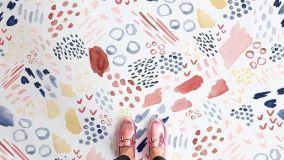 Pavimenti acquerello: il fascino di camminare sopra un quadro