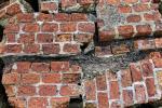 Grave lesione muratura di mattoni