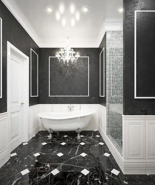 Bagno classico bianco e nero - Credits: Pinterest