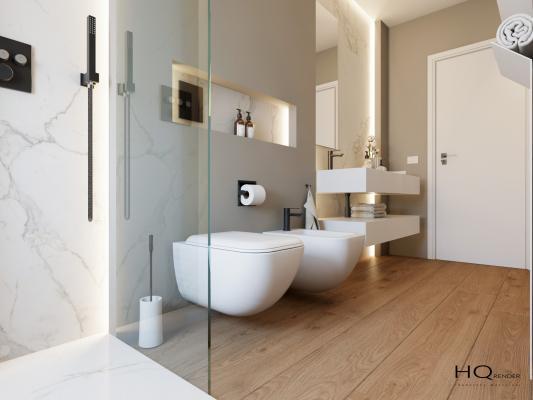 Restyling bagno lungo e stretto by Francesca Macellari