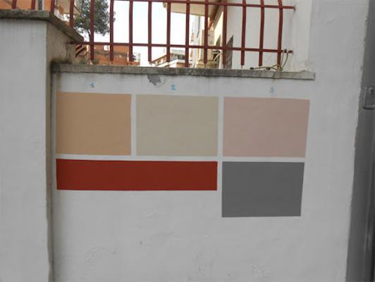 Ristrutturazione facciate: prova del colore campionatura