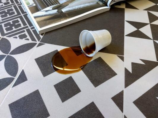 Dettaglio tappeto in vinile  di Tappetosumisura.it