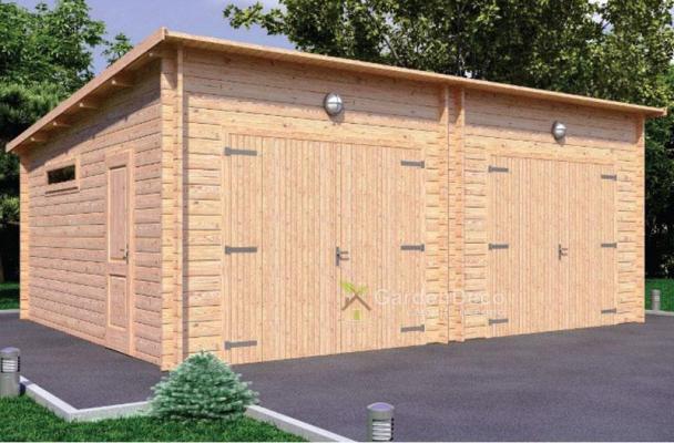 Doppio garage in legno di GardenDeco