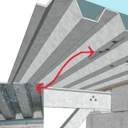 Corrosione in atto lamiera grecata