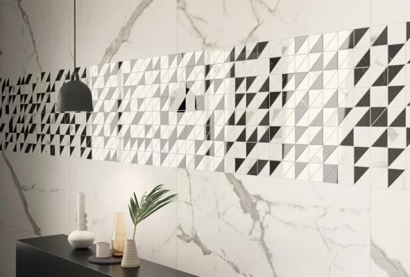 Oggi si rivestono con piastrelle anche pareti di ambienti diversi dai servizi