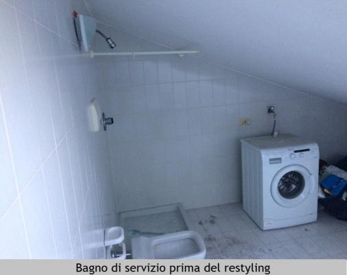Bagno di servizio in mansarda prima