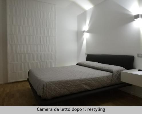 Camera da letto in mansarda dopo