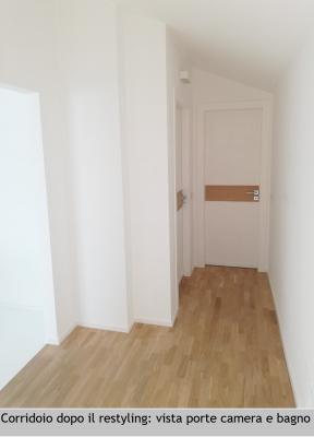 Corridoio in mansarda dopo