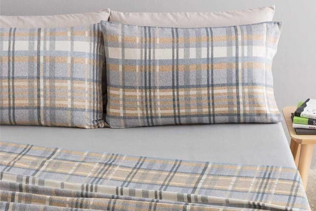 Completo letto in flanella di cotone, da carillohome.com
