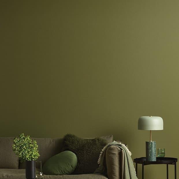 Il verde oliva nella casa autunnale, da shop.porterspaints.com