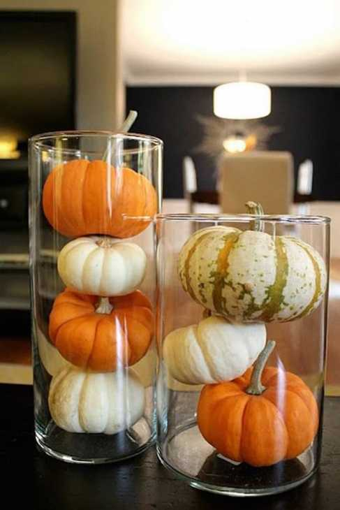 Zucche decorative nella casa d'autunno, da stylecaster.com