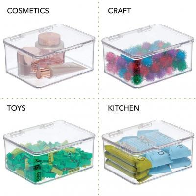 Contenimento degli oggetti in contenitori trasparenti su Amazon