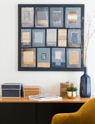 Tela blu, beige e nera - Iconic Vintage - Foto by Maisons du Monde