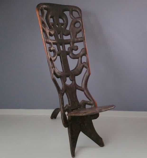 Mobili in legno di ebano - sedia africana - da Pamono