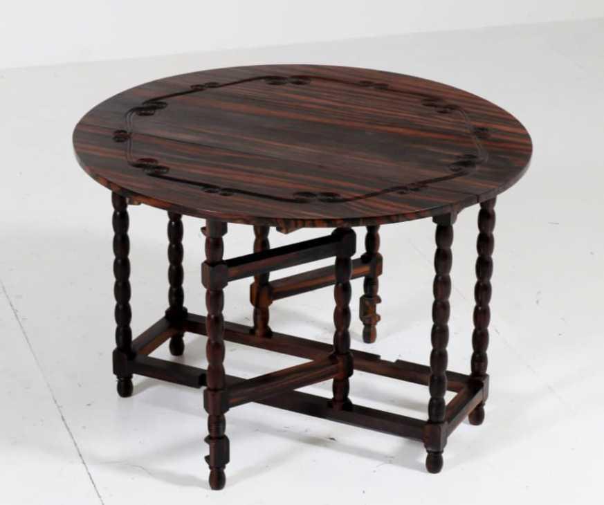 Mobili in legno di ebano - tavolino pieghevole - da Pamono