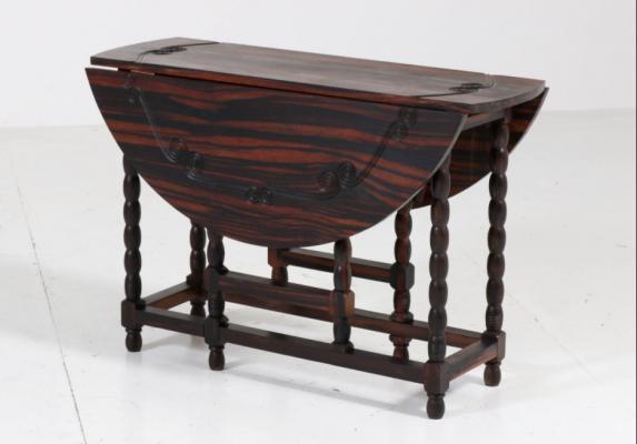 Mobili antichi in ebano - Tavolino Olandese - da Pamono