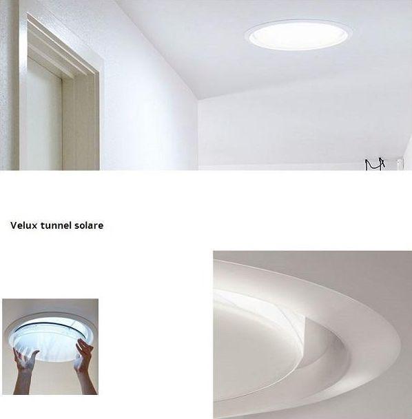 Luce naturale nel bagno piccolo con il tunnel solare Velux