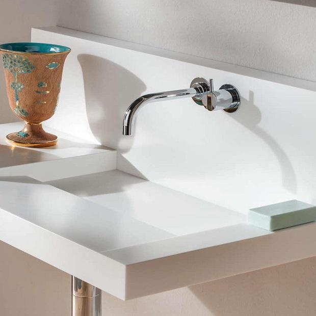 Pamplona di Rapsel, il lavabo compatto per bagni piccoli