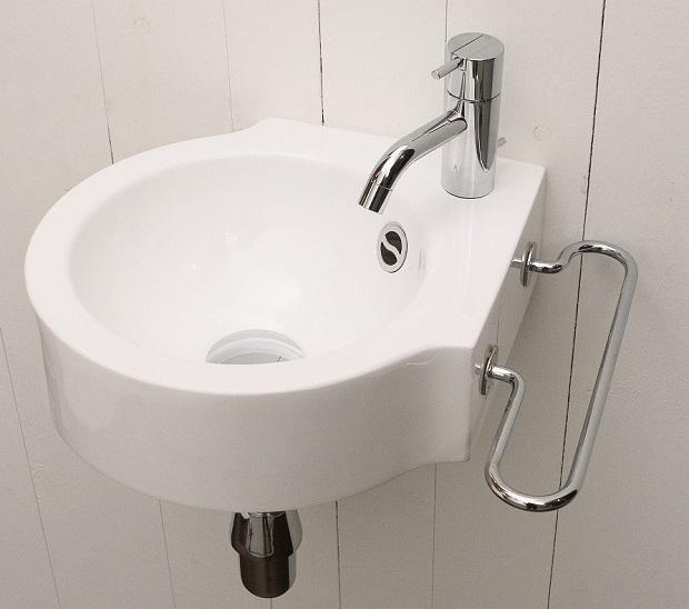 Rapsel, lavabo Wing per bagni piccoli