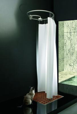 Pluviae, sistema doccia compatto per piccoli bagni. Rapsel