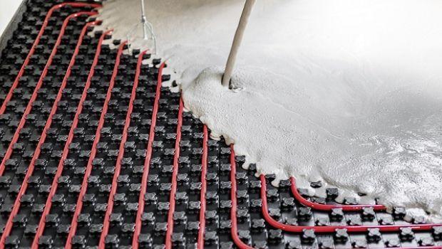 Autolivellante Weber per pavimenti radianti a basso spessore