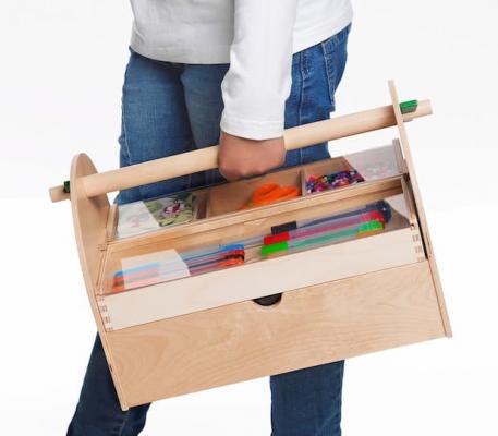 Cassetta attrezzi legno Lustigt Ikea