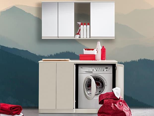 Lavanderia a casa in piccoli spazi, BIREX, linea Idrobox