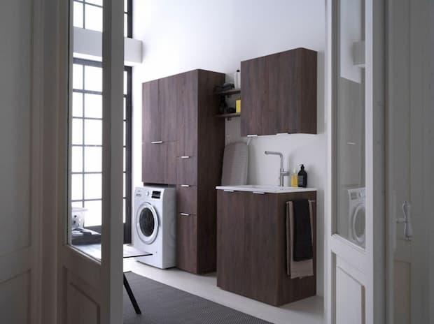 Lavanderia a casa in piccoli spazi, IDEAGROUP, linea Kandy