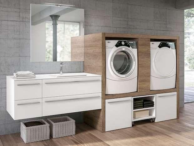 Lavanderia di casa in piccoli spazi, GEROMIN