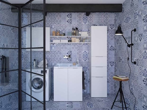 Lavanderia in casa in piccoli spazi, IDEAGROUP, linea Kandy