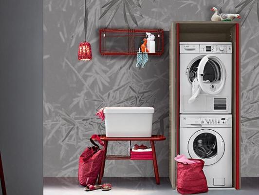 Lavanderia a casa in piccoli spazi, BIREX