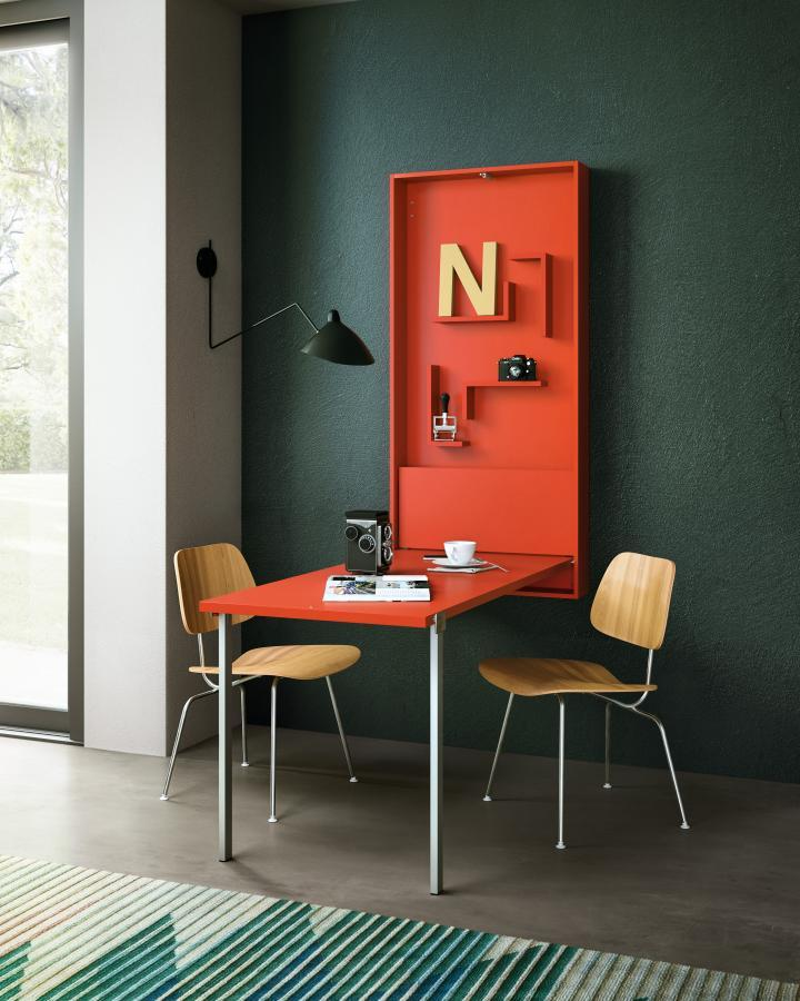 Piccolo ufficio in casa per lo smart working, Clei, linea Wally