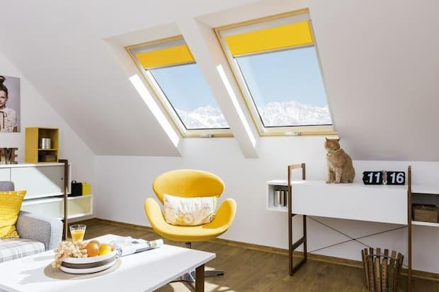 Come illuminare correttamente una mansarda, finestra a bilico super-termoisolante, FAKRO