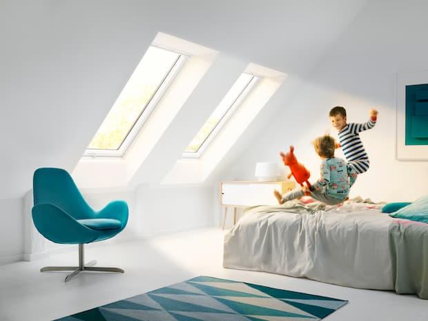 Illuminare la mansarda, finestre per tetti a falda, VELUX
