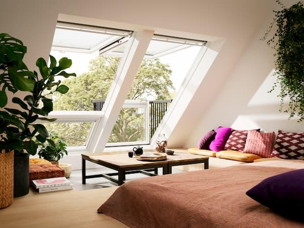 Illuminare una mansarda con luce naturale, finestre per tetti a falda, VELUX