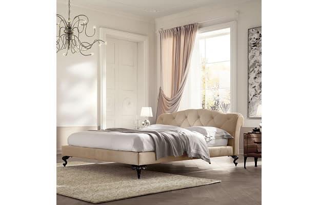 Camera letto shabby letto capitonnè George di Diotti