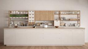 Tanti modelli di cucina bianca e legno
