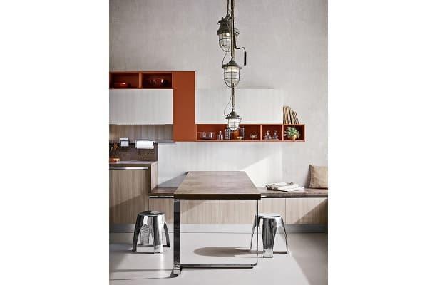 Cucina bianca e legno Diotti dettaglio