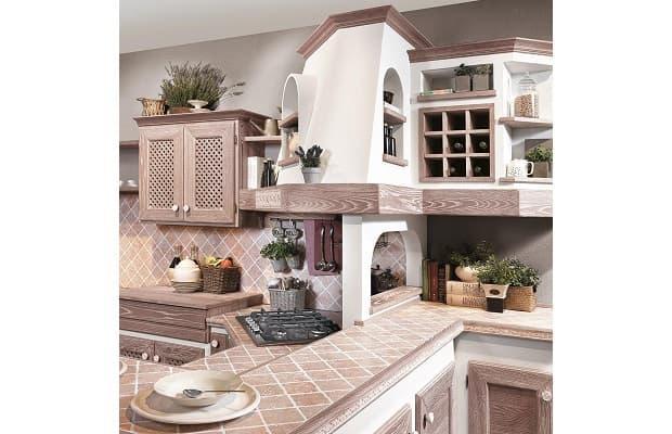 Dettaglio cucina bianca e legno Luisa di Lube