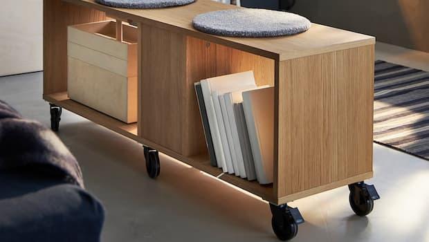 Scaffale con ruote Ikea RÅVAROR - Foto by Ikea
