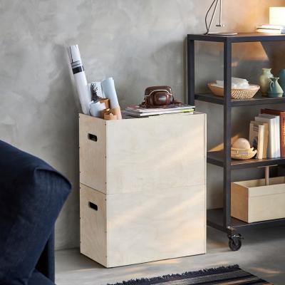 Contenitori in legno RÅVAROR - Foto by Ikea