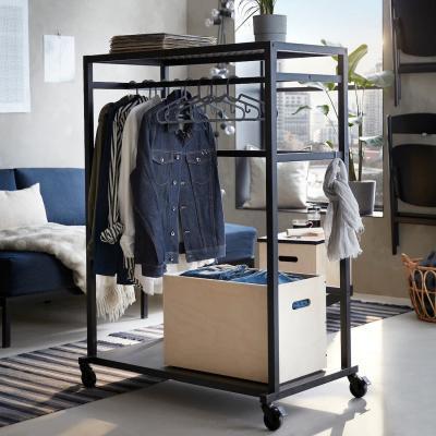 Scaffale con rotelle e contenitore RÅVAROR - Foto by Ikea